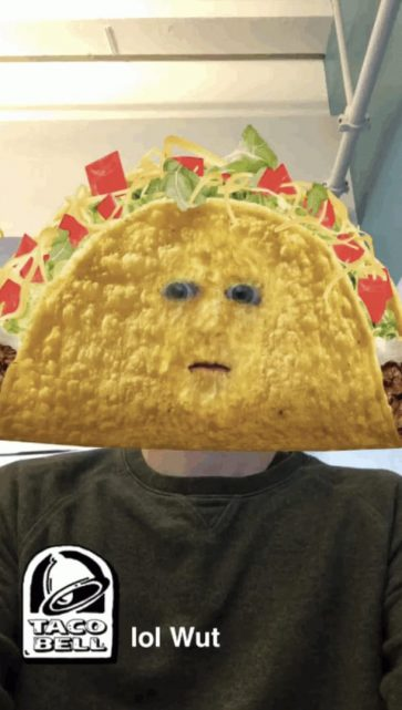 Snapchat Taco Bell AR lens