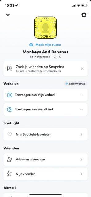 Snapchat bedrijfsaccount