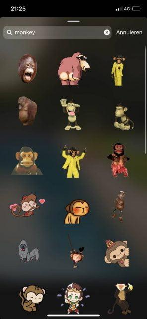 GIF toevoegen Instagram Stories