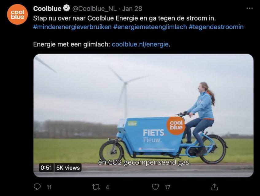 Voorbeeld Twitter marketing Bedrijven