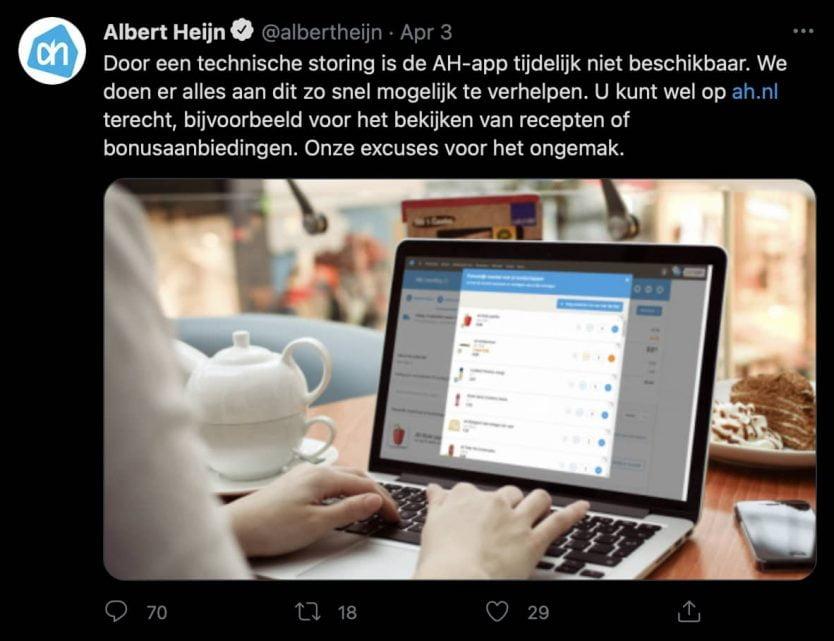Twitter marketing voorbeeld bedrijven