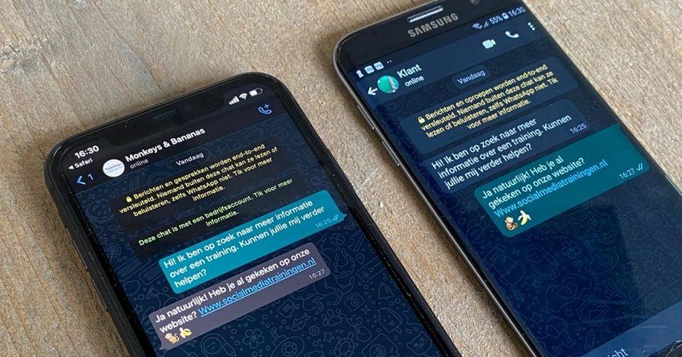 WhatsApp Business bedrijven zakelijk